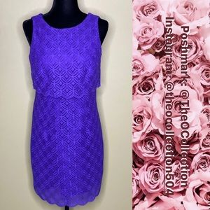 LAUNDRY by Shelli Segal Purple Lace Dress Size 4